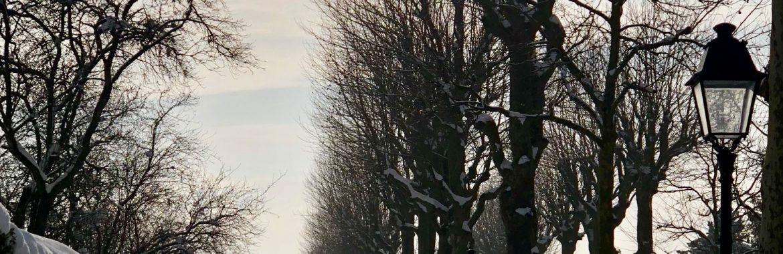Saint-Nom-la Bretèche sous son manteau d'hiver